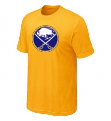 NHL Men's Buffalo Sabres Big & Tall Logo T-Shirt - Yellow