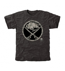 NHL Men's Buffalo Sabres Black Rink Warrior Tri-Blend T-Shirt