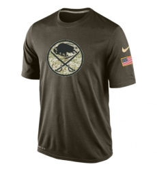 NHL Men's Buffalo Sabres Nike Olive Salute To Service KO Performance Dri-FIT T-Shirt