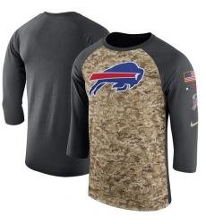 NFL Men's Buffalo Bills Nike Camo Anthracite Salute to Service Sideline Legend Performance Three-Quarter Sleeve T-Shirt