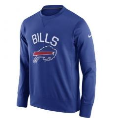 NFL Men's Buffalo Bills Nike Royal Sideline Circuit Performance Sweatshirt