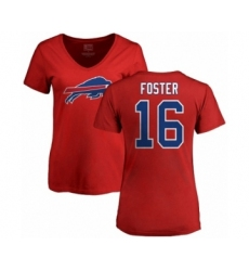 NFL Women's Nike Buffalo Bills #16 Robert Foster Red Name & Number Logo T-Shirt
