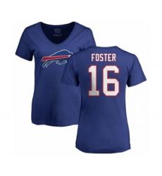 NFL Women's Nike Buffalo Bills #16 Robert Foster Royal Blue Name & Number Logo T-Shirt