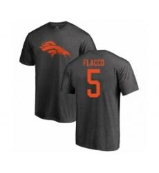 Football Denver Broncos #5 Joe Flacco Ash One Color T-Shirt