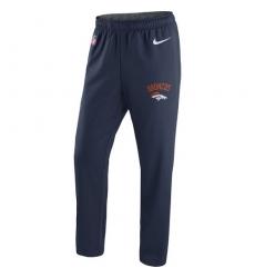 NFL Men's Denver Broncos Nike Navy Circuit Sideline Performance Pants