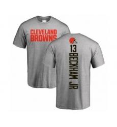 NFL Nike Cleveland Browns #13 Odell Beckham Jr. Ash Backer T-Shirt