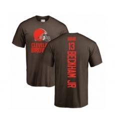 NFL Nike Cleveland Browns #13 Odell Beckham Jr. Brown Backer T-Shirt