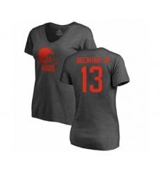 NFL Women's Nike Cleveland Browns #13 Odell Beckham Jr. Ash One Color T-Shirt