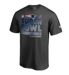 NFL Men's New England Patriots Pro Line by Fanatics Branded Charcoal Super Bowl LI Champions Trophy Collection Locker Room T-Shirt