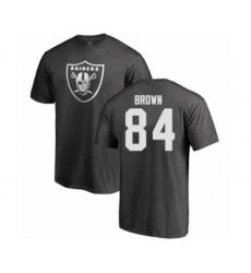 Football Oakland Raiders #84 Antonio Brown Ash One Color T-Shirt