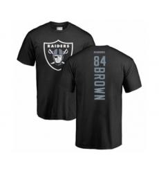 Football Oakland Raiders #84 Antonio Brown Black Backer T-Shirt