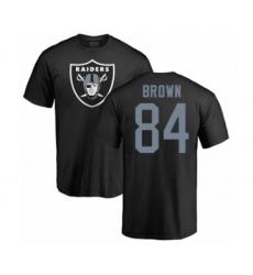 Football Oakland Raiders #84 Antonio Brown Black Name & Number Logo T-Shirt