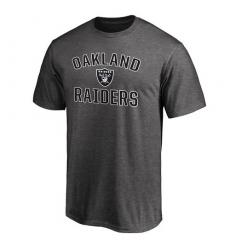 NFL Men's Oakland Raiders Pro Line Gray Victory Arch T-Shirt