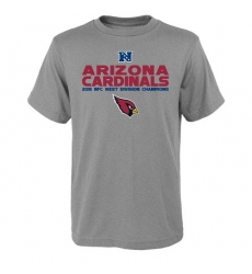 NFL Men Arizona Cardinals Heather Gray 2015 NFC West Division Champions Next Level T-Shirt