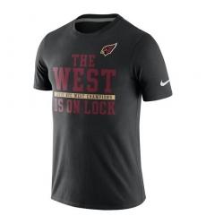 NFL Men Arizona Cardinals Nike Black 2015 NFC West Division Champions T-Shirt