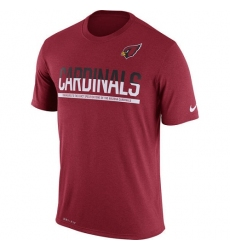 NFL Men Arizona Cardinals Nike Cardinal Team Practice Legend Performance T-Shirt