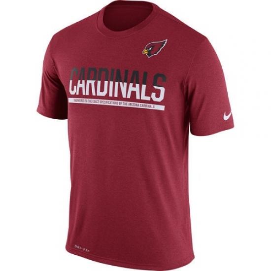 NFL Men Arizona Cardinals Nike Cardinal Team Practice Legend Performance T-Shirt
