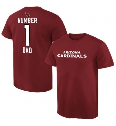 NFL Men Arizona Cardinals Pro Line Cardinal Number 1 Dad T-Shirt