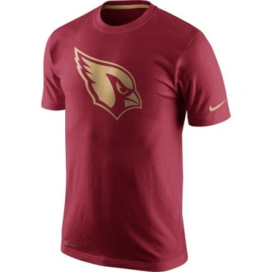 NFL Men Nike Cardinal Arizona Cardinals Championship Drive Gold Collection Performance T-Shirt