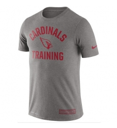 NFL Men's Arizona Cardinals Nike Heathered Gray Training Performance T-Shirt