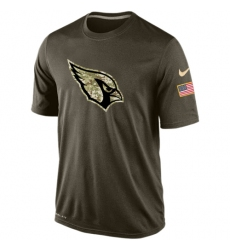 NFL Men's Arizona Cardinals Nike Olive Salute To Service KO Performance Dri-FIT T-Shirt