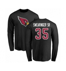 NFL Nike Arizona Cardinals #35 D.J. Swearinger SR Black Name & Number Logo Long Sleeve T-Shirt