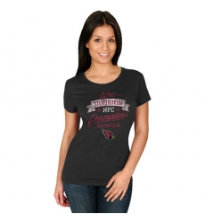 NFL Women Arizona Cardinals Majestic Black 2015 NFC West Division Champions T-Shirt