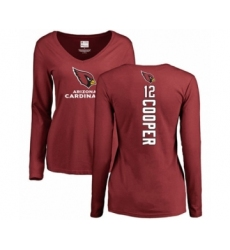 NFL Women's Nike Arizona Cardinals #12 Pharoh Cooper Maroon Backer Long Sleeve T-Shirt