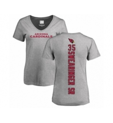 NFL Women's Nike Arizona Cardinals #35 D.J. Swearinger SR Ash Backer V-Neck T-Shirt