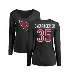 NFL Women's Nike Arizona Cardinals #35 D.J. Swearinger SR Black Name & Number Logo Long Sleeve T-Shirt