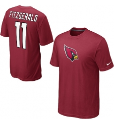 Nike Arizona Cardinals #11 Larry Fitzgerald Name & Number NFL T-Shirt Red