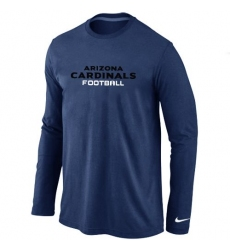 Nike Arizona Cardinals Authentic Font Long Sleeve NFL T-Shirt - Dark Blue