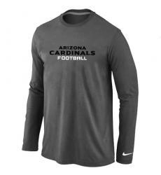 Nike Arizona Cardinals Authentic Font Long Sleeve NFL T-Shirt Dark Grey