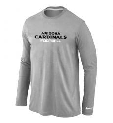 Nike Arizona Cardinals Authentic Font Long Sleeve NFL T-Shirt - Grey