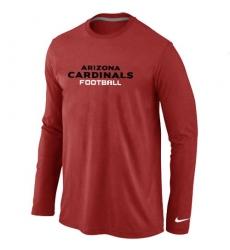 Nike Arizona Cardinals Authentic Font Long Sleeve NFL T-Shirt - Red