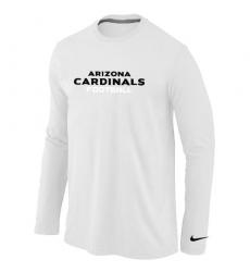 Nike Arizona Cardinals Authentic Font Long Sleeve NFL T-Shirt White