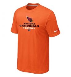 Nike Arizona Cardinals Critical Victory NFL T-Shirt - Orange