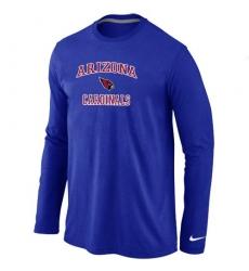 Nike Arizona Cardinals Heart & Soul Long Sleeve NFL T-Shirt Blue