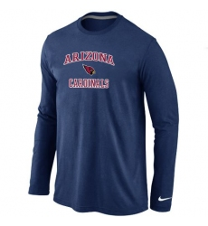 Nike Arizona Cardinals Heart & Soul Long Sleeve NFL T-Shirt Dark Blue