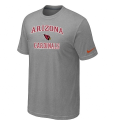 Nike Arizona Cardinals Heart & Soul NFL T-Shirt Grey