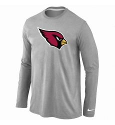Nike Arizona Cardinals Team Logo Long Sleeve NFL T-Shirt Grey