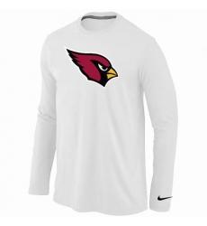 Nike Arizona Cardinals Team Logo Long Sleeve NFL T-Shirt White