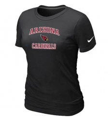 Nike Arizona Cardinals Women's Heart & Soul NFL T-Shirt - Black