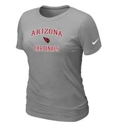 Nike Arizona Cardinals Women's Heart & Soul NFL T-Shirt - Light Grey