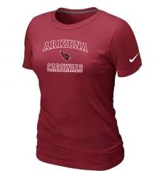 Nike Arizona Cardinals Women's Heart & Soul NFL T-Shirt Red