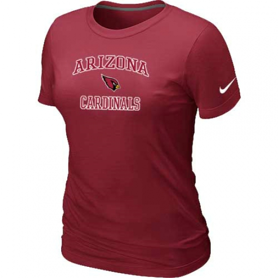 Nike Arizona Cardinals Women's Heart & Soul NFL T-Shirt Red