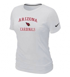 Nike Arizona Cardinals Women's Heart & Soul NFL T-Shirt White