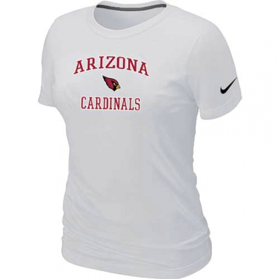 Nike Arizona Cardinals Women's Heart & Soul NFL T-Shirt White