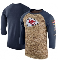NFL Men's Kansas City Chiefs Nike Camo Anthracite Salute to Service Sideline Legend Performance Three-Quarter Sleeve T-Shirt