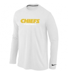 Nike Kansas City Chiefs Authentic Font Long Sleeve NFL T-Shirt - White